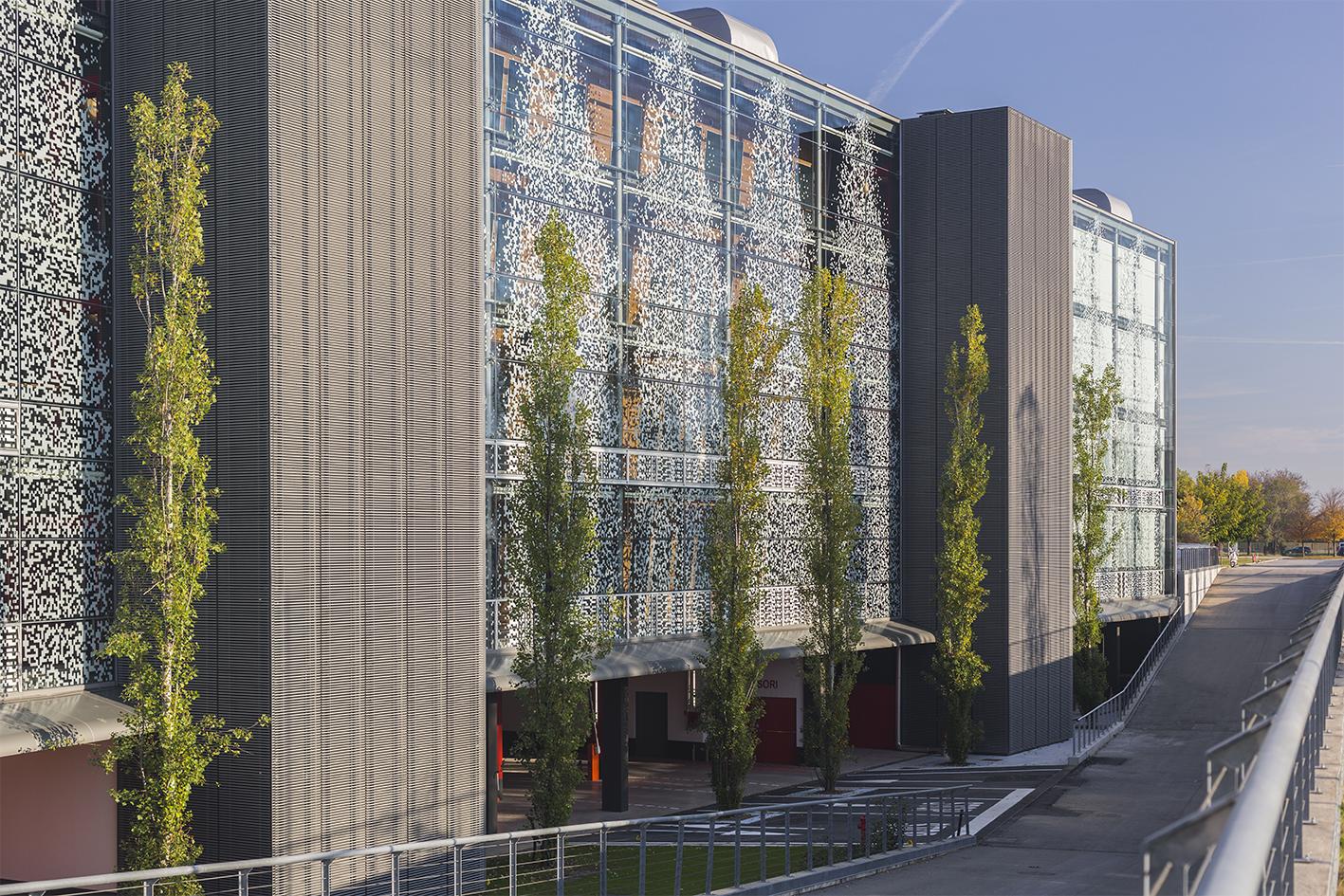facciata ovest parco scientifico Kilometro rosso