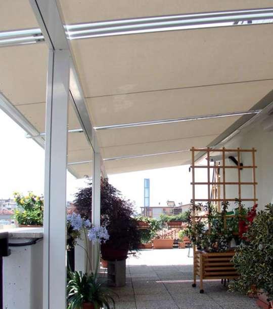 Tenda esterna con guide