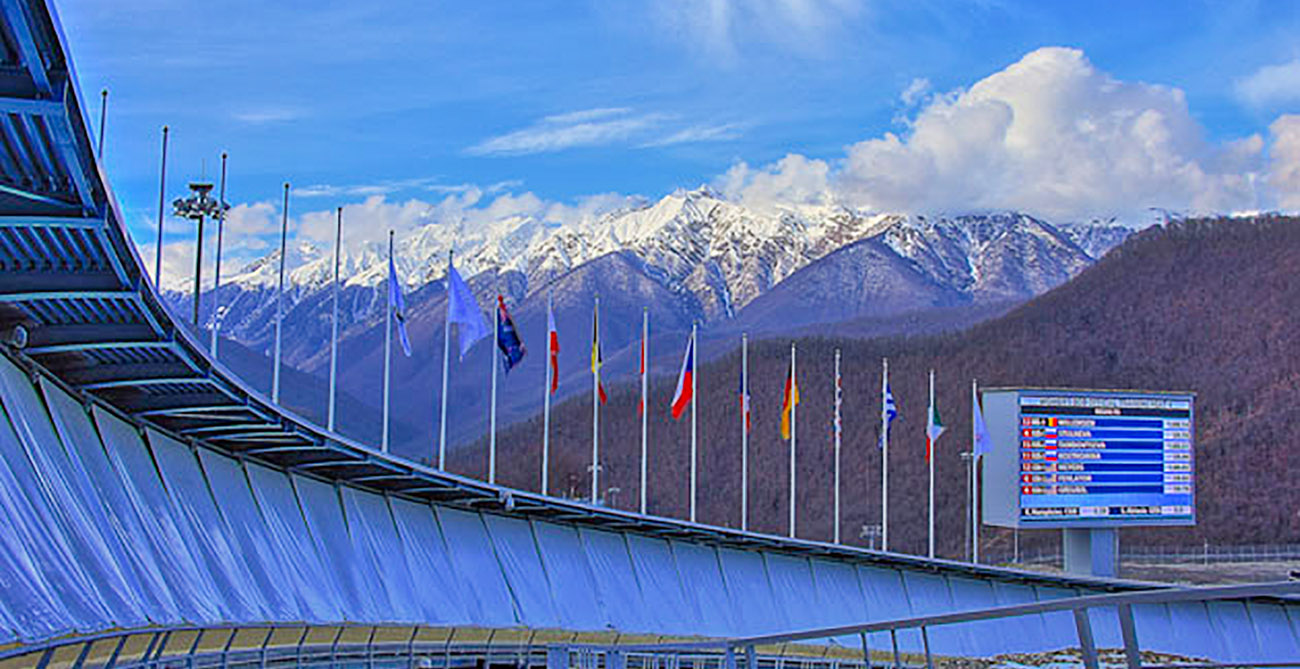 Sochi Russia pista olimpica da Bob e slittino